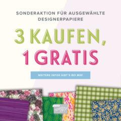 Designerpapier-Angebot, 3 kaufen, 1 gratis
