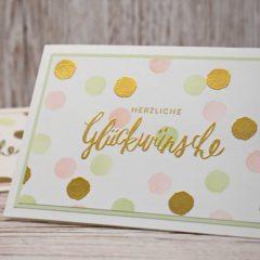 Glückwunschkarte mit dem Stempelset Liebevolle Worte