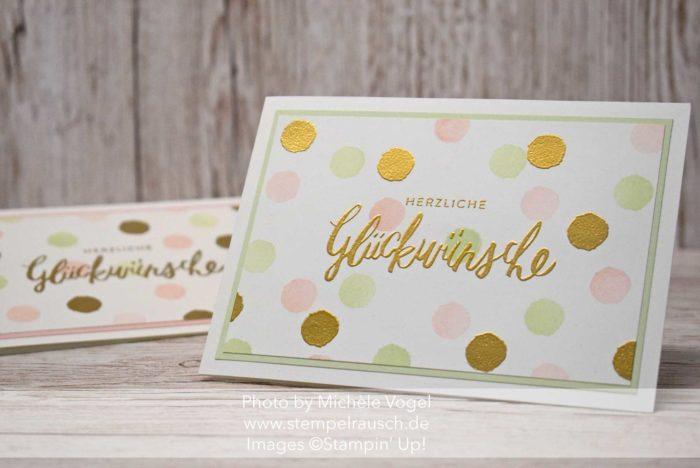 Glückwunschkarte - Geburtstagskarte mit Liebevolle Worte und Gänseblümchengruss von Stampin' Up! www.stempelrausch.de