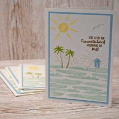 Sommerliche Grusskarte mit dem Stempelset Am Ufer