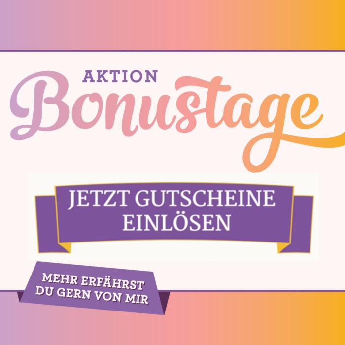 Gutscheine aus der Aktion Bonustage von Stampin' Up! einlösen www.stempelrausch.de