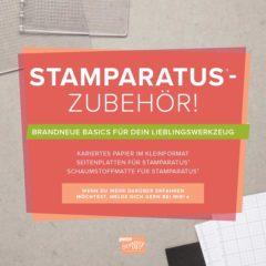 Stamparatus Zubehör ab dem 01.10.2018 erhältlich
