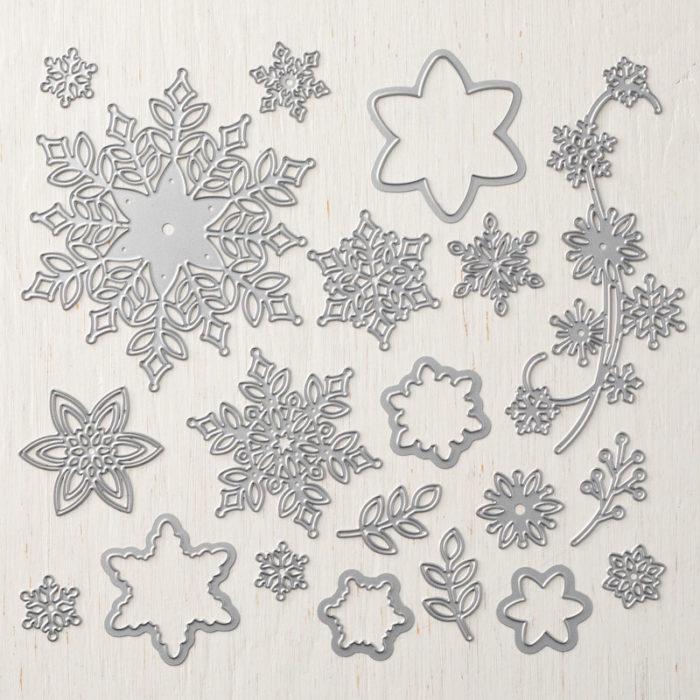 Schneeflocken - Thinlits Formen Schneegestöber - Aktion Flockengestöber von Stampin' Up! erhältlich bei www.stempelrausch.de