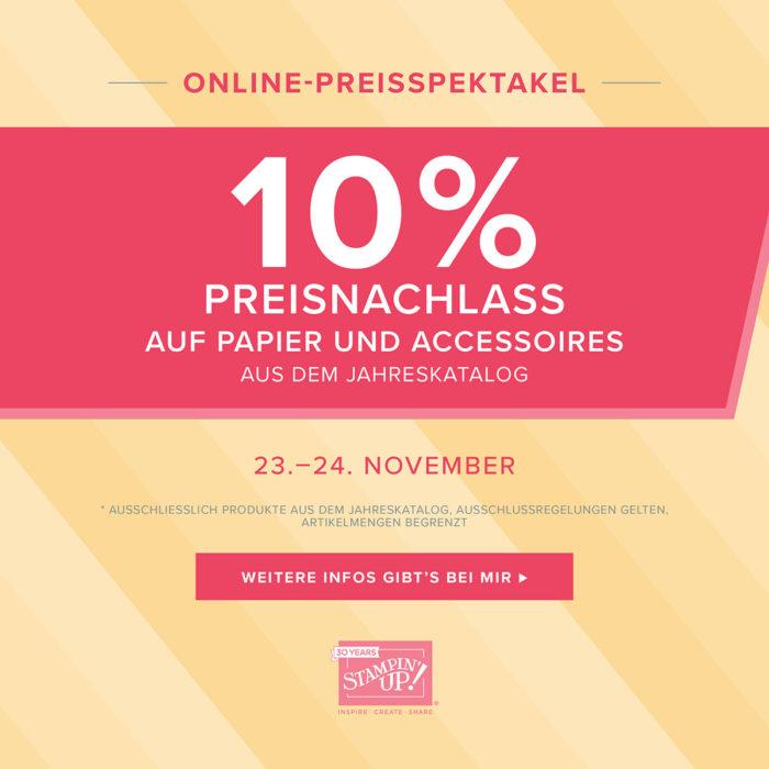 ONLINE-PREISSPEKTAKEL PAPIER UND ACCESSOIRES 23.-24.11.2018 Stampin' Up! www.stempelrausch.de