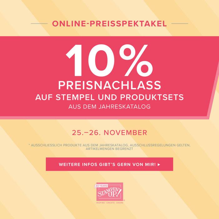 ONLINE-PREISSPEKTAKEL STEMPEL UND PRODUKTSETS 25.-26.11.2018 Stampin' Up! www.stempelrausch.de
