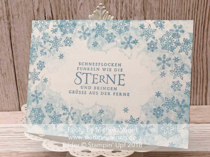 Weihnachtskarte für Anfänger mit dem Stempelset Flockenfantasie von Stampin' Up! www.stempelrausch.de
