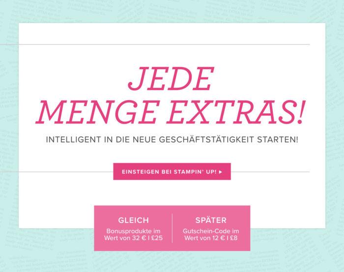 Juli Aktion - Stampin' Up! Demonstrator werden und noch mehr Bonusprodukte im Starterset erhalten! www.stempelrausch.de