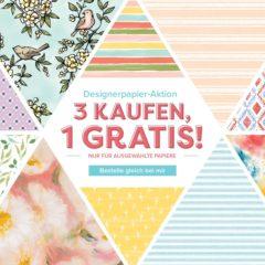 Designerpapier-Aktion 2019: 3 kaufen, 1 gratis