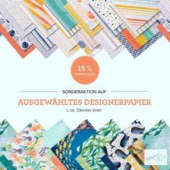 Sonderaktion auf ausgewähltes Designerpapier
